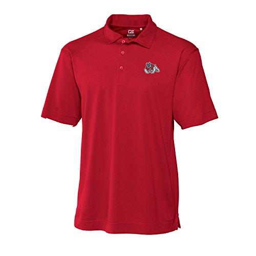 Cutter & Buck NCAA Fresno State Bulldogs CB Drytec Genre Polo, Medium, Red