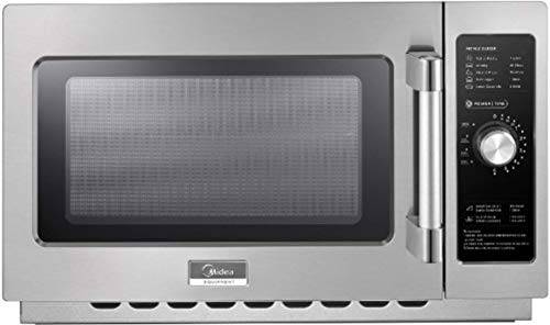 Midea Equipment 1034N0A Stainless Steel Countertop Commercial Microwave Oven, 1000W