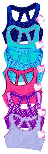 Just Love Sujetadores para niñas (paquete de 6), Paquete de 6 - Grupo 3, S/32A