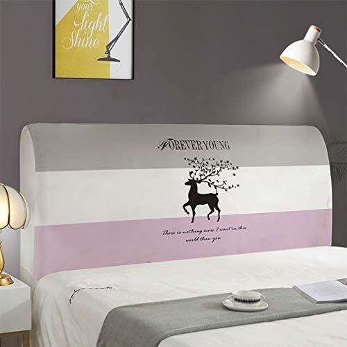 N / A Bedruckter Bett-Kopfteil-Bezug, elastisch, staubdicht, kratzfest, waschbar, 70 x 150 cm, dreifarbig