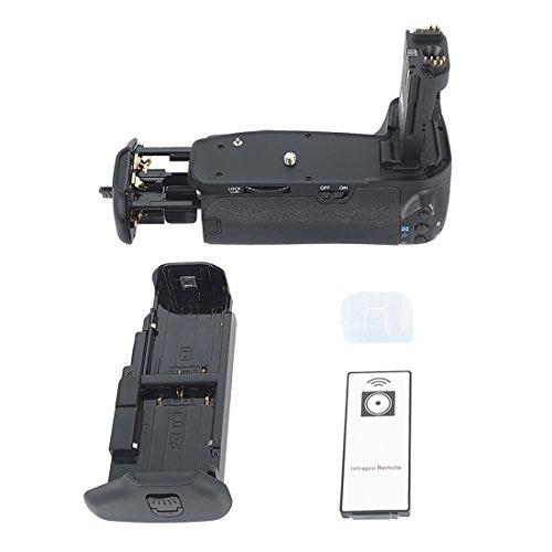 DSTE Telecomando Verticale Batteria Presa per Canon EOS 60D 60Da DSLR Fotocamera come BG-E9
