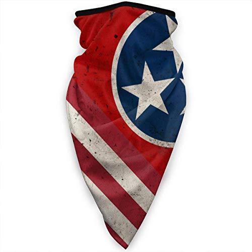 Tennessee USA USA. Retro vlaggetje masker kraag Gamas sjaal bivakmuts mutsen multifunctioneel
