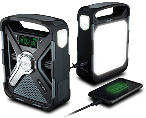 Eton Ultimate Camping AM/FM/NOAA Radio with S.A.M.E Technology, Smartphone...