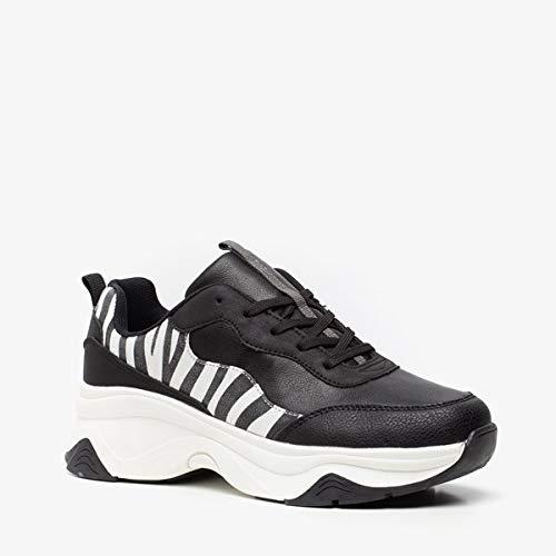 Blue Box dames dad sneakers - Zwart