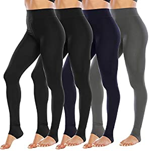 Updated Suture & Soft Material:The fleece lined leggings for women are updated two ugly butt suture into one normal suture,which more beautiful and comforty;and the velvet leggings are updated with premium 80% polyester+20%spandex,which are very soft...