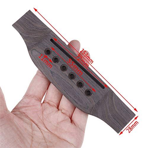 YSJJEFB Afinador de Guitarra 1 Set Accesorios de Guitarra Puente de Guitarra acústica + Pasador de Puente de Hueso/Silla de Montar/Tuerca Sillín de Guitarra Código de Guitarra Código de Puente