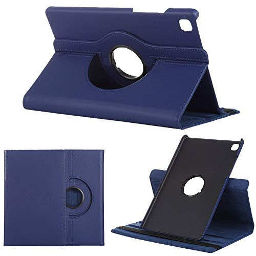 Wigento Für Samsung Galaxy Tab A7 2020 T500 T505 360 Grad Rotation Tablet Tasche Hülle Hülle Cover Etui Schutz Dunkel Blau Neu