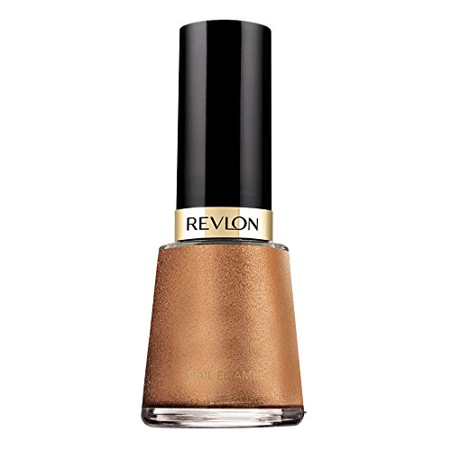 Revlon Nail Enamel, Chip Resistant Nail Polish, Glossy Shine Finish, in Nude/Brown, 932 Copper Penny, 0.5 oz