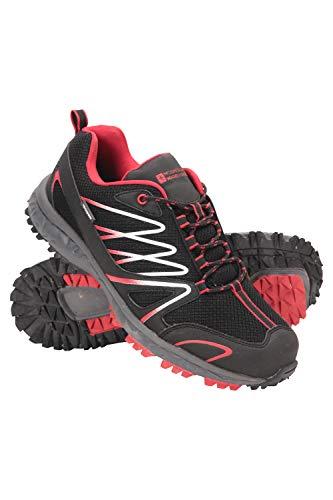 Mountain Warehouse Enhance Wasserfeste Laufschuhe für Herren - Atmungsaktive Freizeitschuhe, weiche Wanderschuhe, strapazierfähige Herrenschuhe - Schuhe für den Alltag Schwarz Jet 40