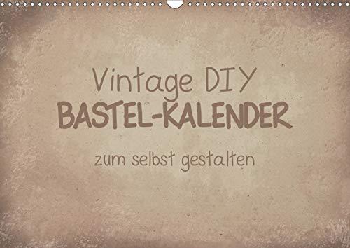 Vintage DIY Bastel-Kalender (Wandkalender 2020 DIN A3 quer)