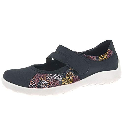 Remonte Orion Womens Casual Mary Jane Shoes 37 EU Pazific/Meeresblume