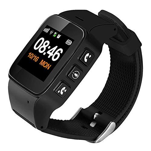 Relojes Inteligentes LJR D99 + 1,22 Pulgadas HD Pantalla LCD GPS Smartwatch para el Anciano Impermeable, Soporte GPS + LBS + Posicionamiento WiFi/Marcación de Dos vías/Monitoreo de Voz/One-Key