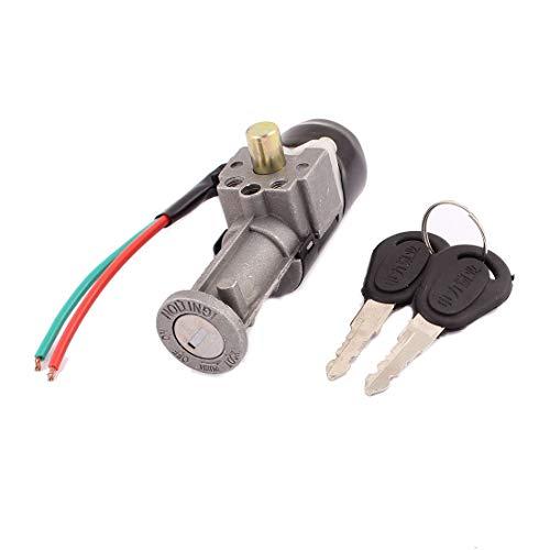 Cerradura de interruptor de encendido de alimentación de seguridad para moto, CC 60 V con cable CC de 60 V