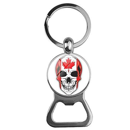 NANA318 Kreative Legierung Flagge Ghost Head Bier Opener Time Gem Schlüsselbund Opener Kanada_Bier Flaschenöffner Schlüsselbund
