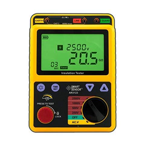 IGOSAIT Pantalla Digital 250~2500V Aislamiento Digital de Alto Voltaje Tester Medidor de Resistencia de tensión Megohmetro Ohmímetro AR3123