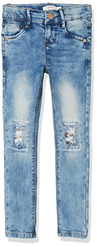 NAME IT Mädchen NKFPOLLY DNMTESSA 1001 Pant NOOS Jeans, Blau (Light Blue Denim), 122