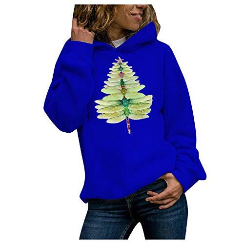 YunYoud Damen Pullover Oversize Rundhals Frauen Lässig Einfarbig Langarmpullover Hoodie Sweater Tops Lockerer Strickpullover Sweatshirt