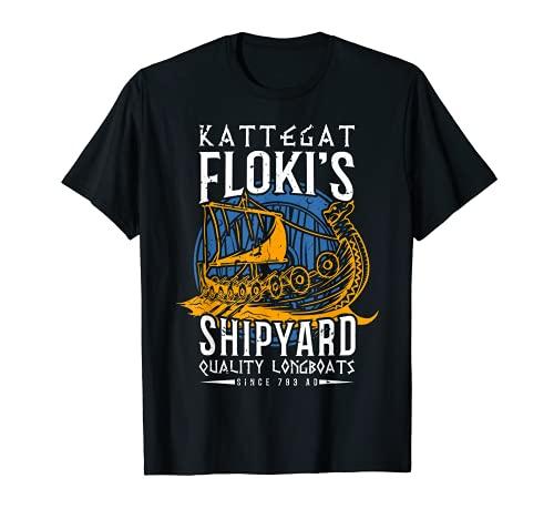 Kattegat Floki Astillero Mitología Nórdica Vikingo Camiseta