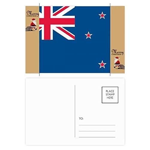 Nieuw-Zeeland Nationale Vlag Oceania Land Kerstman Gift Ansichtkaart Thanks Card Mailing 20 stks