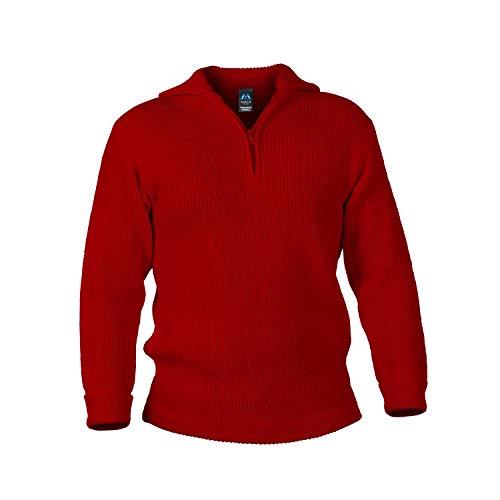 Blauer Peter - Troyer - Pullover - Schurwolle - 9 Farben, Farbe:Rot, Größe:44