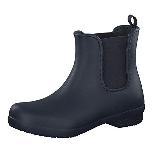 Crocs Freesail Chelsea Boot, Botas de Agua para Mujer, Azul (Navy), 38/39 EU
