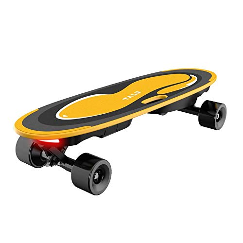 Elektrisches Skateboard Longboard, Elektro Skateboard 4-Rad-Skateboard Mit Sprachfunktion Und Musikfunktion, 9 1 Schichten Massivahornblatt, Steuern 15 Km/H Für Erwachsene
