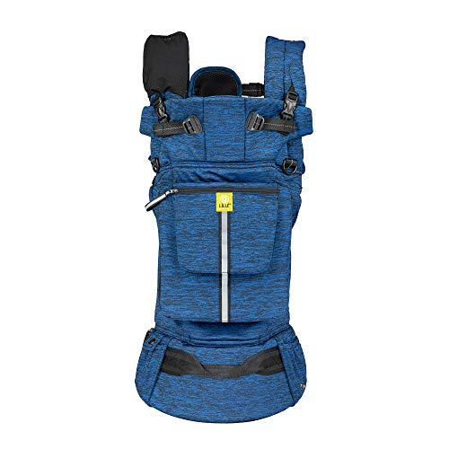 LÍLLÉbaby Pursuit Pro Six-Position Customizable Baby and Child Carrier with Lumbar Support, Heathered Sapphire