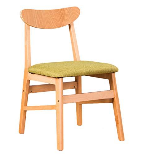 PRIDE S Esszimmerstuhl, einfacher Schreibtischstuhl, kreative Rückenlehne, Freizeitstuhl, Esszimmerstuhl für Erwachsene grün