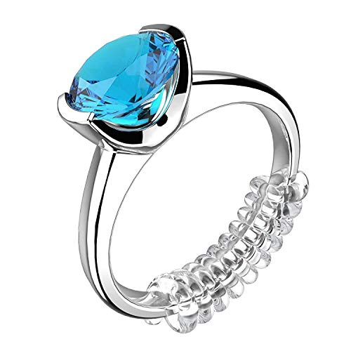 Ring Size Adjuster Woman Rings Tighter Invisible Transparent Silicone Guard Clip Snug for Loose Jewelry Sizer Tightener Resizer 4 Sizes Fit Almost All Fingers 6 Pcs