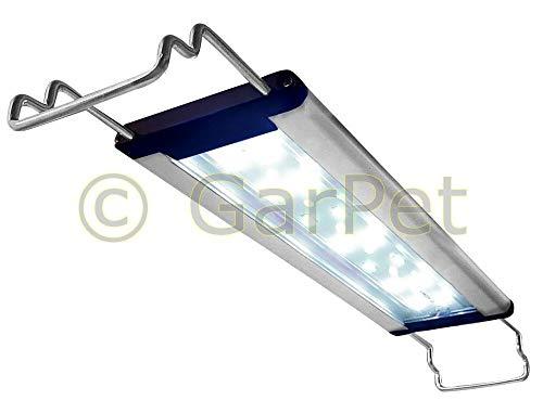 happet AquaLED Aquarium LED Beleuchtung, Aquariumleuchte für Ihre Zierfischaquarien ALS Aquariumlampen und Aufsetzleuchte im Süßwasser ALS Tageslicht und Pflanzenlicht einsetzbar (LB18, 47-57 cm)