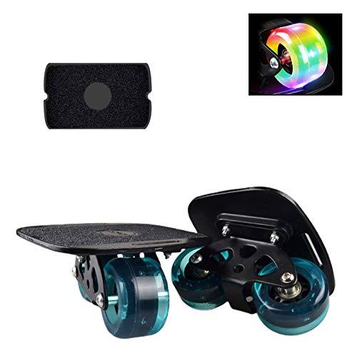 Shunfaji Drift Skates Freeline, Tragbare Anti-Slip Professionelle Erwachsene Roller Board, Driftboard Kinder Anfänger Reise Pinsel Street Artifact Split Skateboard (schwarz)