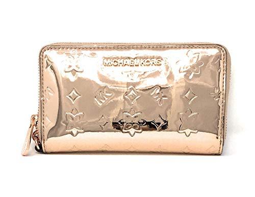 Michael Kors Women's Jet Set Travel Large Smartphone Wristlet (Rose Gold Metallic)