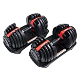 Conate Adjustable Dumbbell, Fast Adjust Weight Dumbbell Barbell Free Weight Dumbbell Suit Training Weights Gym Equipment for Man and Women Exercise Dumbbell