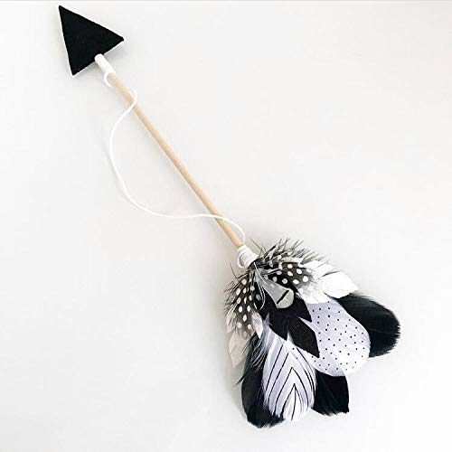 POJAP Houten Arrow Feather muur opknoping hanger hanger Game Tent Decoratie (Color : Black White)