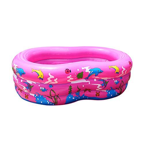 Koly-Hundebett Familie 2 Ring Faltbar Schwimmen Schwimmbad,51,18 x 33,46 x 19,69 Zoll mit Elektrisch Pumpe,Einfach einstellen Zum Hinterhof, Sommer Wasser Draussen Schwimmbad