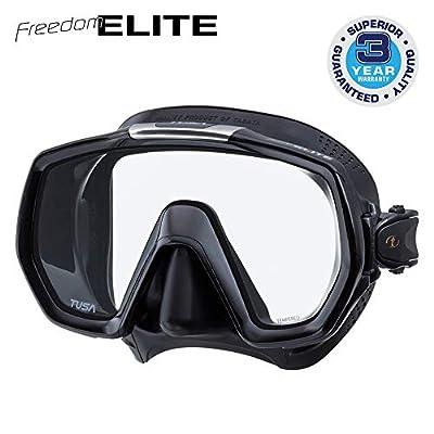TUSA M-1003 Freedom Elite Scuba Diving Mask, Black/Black