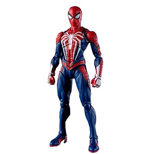 MIAOXI Versione di Gioco PS4 da 6 Pollici Spiderman Action Figure, Modello di Personaggio Giocattoli per Ragazzi Decorazione di Statue Giunti Mobili,Red-6 in