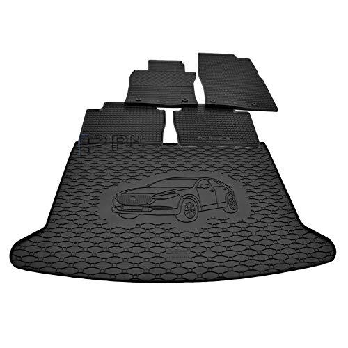 X & Z PPH – Diseño combi – Alfombrilla de goma antideslizante para maletero Mazda CX-30 a partir de 2019