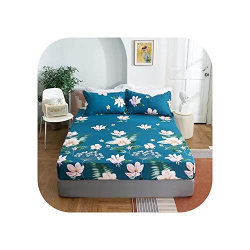 Star Harbor Luxusbettgarnituren |2020 1 Stück Baumwolldruck Bettmatratze Set mit Vier Ecken und Gummibändern-Shenlinqijing-100X200X25cm
