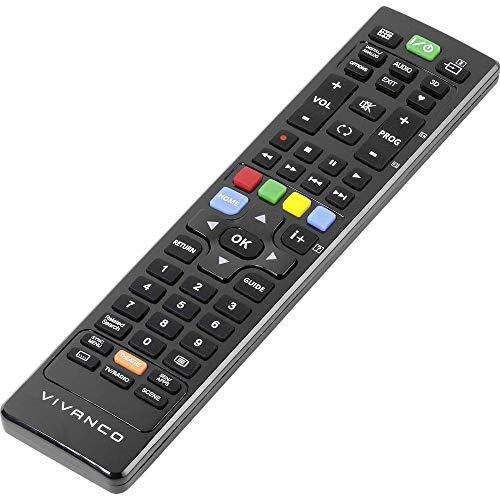 Vivanco RR 240 Infrarot-Fernbedienung, kabellos, TV, drücken Sie die Tasten – Fernbedienungen (TV, IR kabellos, drücken Sie die Tasten, schwarz)