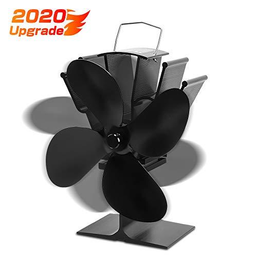 Ofenventilator mit 4 Flügeln, Umweltschutz stromloser ventilator, Aktualisierung Geräuscharmer Betrieb, Kamin-Ventilator hitzebetrieben, für Kamin Holzöfen Öfen