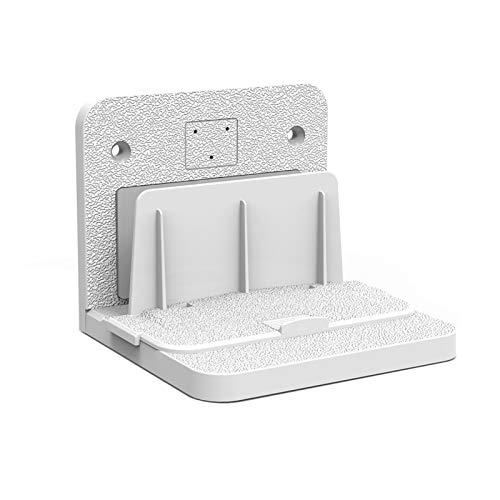 TabloKanvas Soporte Universal para Caja de TV Soporte para Equipos Pequeños y Resistentes para el Hogar Fácil de Instalar Ángulo Ajustable (Color : White)
