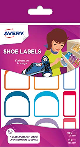 Etiquetas para zapatos de varios tamaños, 16 y 30 x