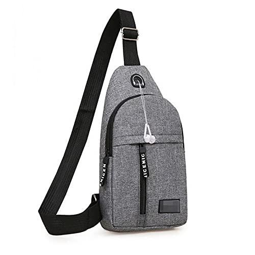 男性ウエストバッグパック財布カジュアル大型電話ベルトバッグポーチキャンバス旅行電話バッグファニーバナナバッグ 1013 (Color : Grey)