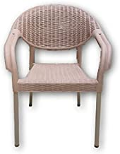 Big plastic chair with metal legs