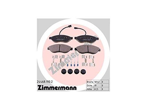 ZIMMERMANN 24468.190.2Serie Bremsbeläge, vorne, 4Federn, 1Sensor, inklusive Platte dämpfend, inklusive Zubehör