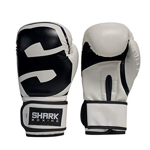 Sharkboxing Guante de Boxeo SKF Blanco (16, Onzas)