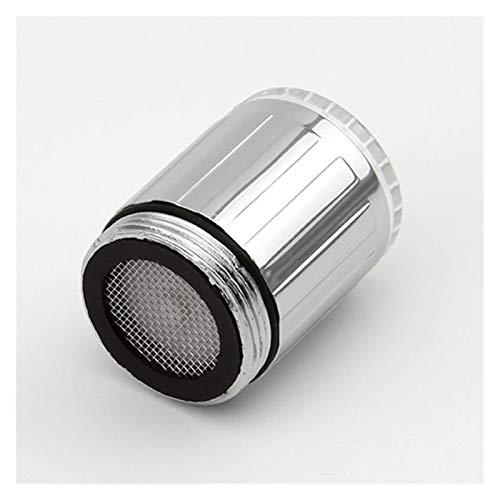 Moda LED Agua Faucet Stream Light 7 Colores Cambiando Glow Blow Shower Tap Head Cocina Sensor de presión Accesorio de cocina (Color : Silver)