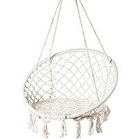 Playberg Round Hanging Hammock Cotton Rope Macrame Swing Chair