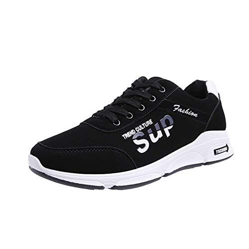 IDE Play Sports Hommes Chaussures de Course à Pied Chaussures de Tennis de Chaussures de Course de Chaussures de Sport de Mode Hommes léger Chaussures de Fitness antidérapants,Noir,7.5uk